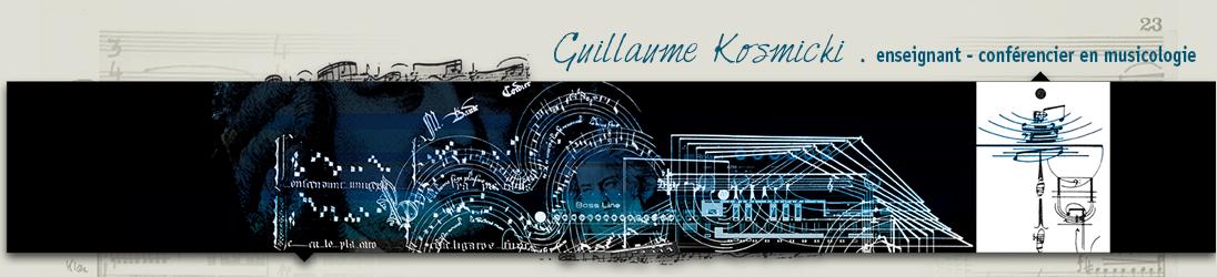 Guillaume Kosmicki – Enseignant – Conférencier en musicologie