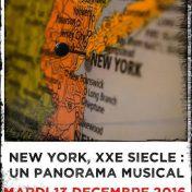 New York, XXe siècle : un panorama musical - 13 décembre 2016 à Redon