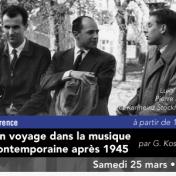 Conférence sur la musique contemporaine après 1945 à Sorgues le 25 mars 2017